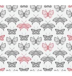 Butterflies pattern2 vector