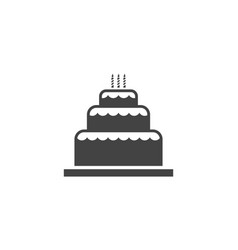Cake sign icon design template vector