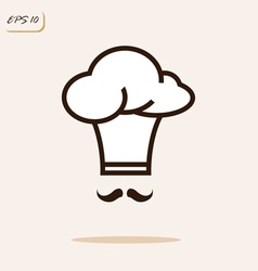 Cap chef with a mustache vector
