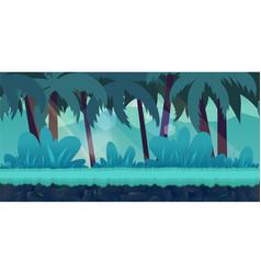 cartoon jungle landscape unending vector image