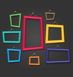 cartoon photo picture painting drawing frame vector image
