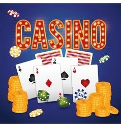 Casino gambling game vector
