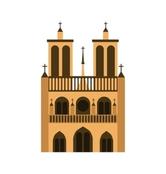 cathedral notre dame icon vector image