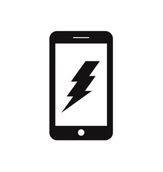 charge smartphone icon vector image