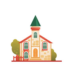 Christian church cuilding front view vector