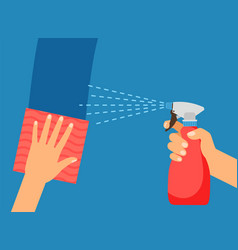 cleaning surface vector image