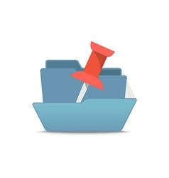 Computer interface folder Open folder isola vector image