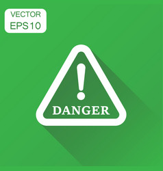 danger sign icon business concept attention vector image