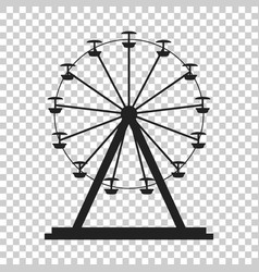 ferris wheel icon carousel in park icon amusement vector image