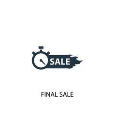 final sale icon simple element vector image