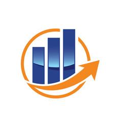 Financial accounting logo advisers logo vector