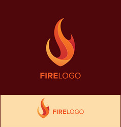 flame logo design template vector image