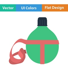 Flat design icon of touristic flask vector image