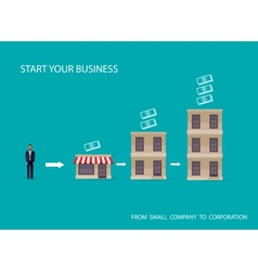 Flat of an infographic business concept vector