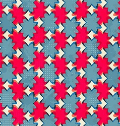 Geometric flowers seamless pattern vector