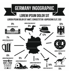 German infographic elements simple style vector image