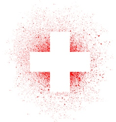 Graffiti white cross spray design element in white vector