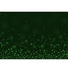 Green christmas snowflakes background vector
