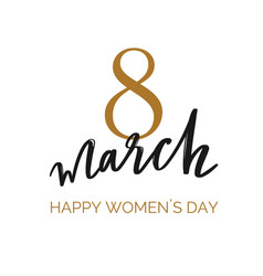happy international women s day holiday vector image