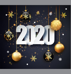 happy new 2020 year holiday vector image