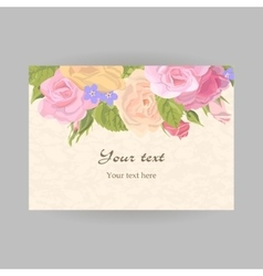 Horizontal romantic greeting card vector image
