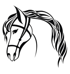 Horse New Year 2014 vector image