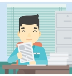 HR manager checking files vector image