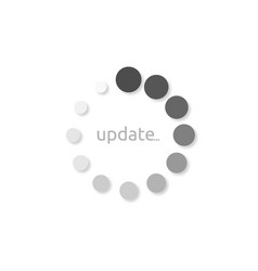 icon install update style design on a white vector image