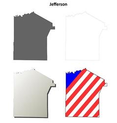 Jefferson Map Icon Set vector
