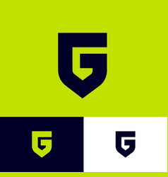 letter g like a shield monogram protect emblem vector image
