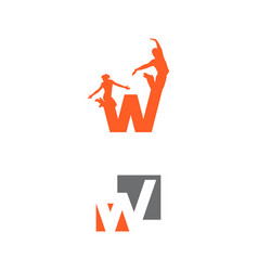 letter w template letter w tr vector image