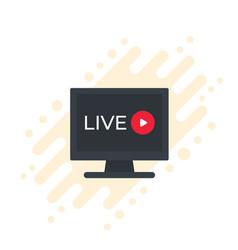 Live stream video icon vector