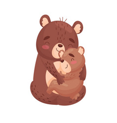 Mama bear and teddy bear on vector