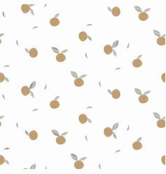 mandarine citrus fruit seamless texture vector image