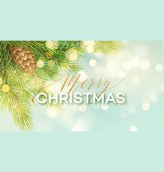 Merry christmas banner template vector