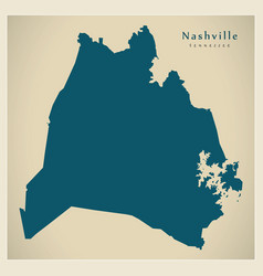 Modern map - nashville tennessee city of the usa vector