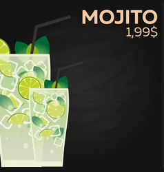 mojito price fast food restauran menu vector image