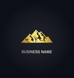 mountain gold logo vector image