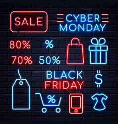 neon sales sign 2 vector image