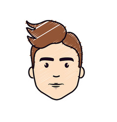 Nice fece man with hairstyle vector