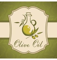Olive oil vintage label vector