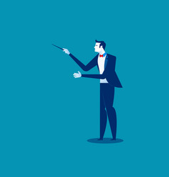 orchestra conductor concept conductor vector image