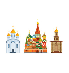 Orthodox church of st basil blessed cathedral vector
