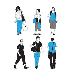 People walking vector
