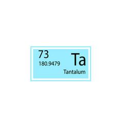 Periodic table element tantalum icon element of vector
