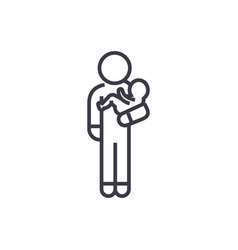 Person with baby linear icon sign symbol vector