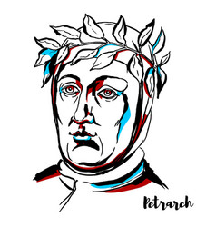 Petrarch portrait vector