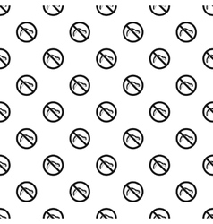 Prohibition sign caterpillar pattern simple style vector