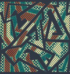 retro cloth geometric seamless pattern vector image