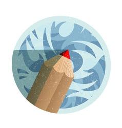 Retro style pencil vector image